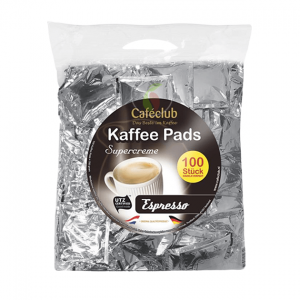 Cafeclub Supercreme Espresso Megabeutel Koffiepads 100 stuks
