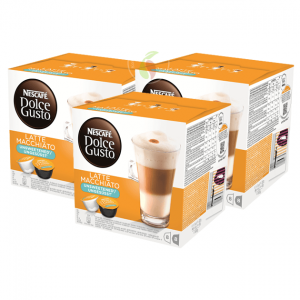 Nescafe Dolce Gusto Latte Macchiato Unsweeted Koffiecups 16 stuks