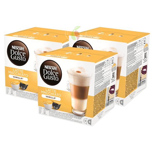 Nescafe Dolce Gusto Latte Macchiato Vanilla Koffiecups 16 stuks